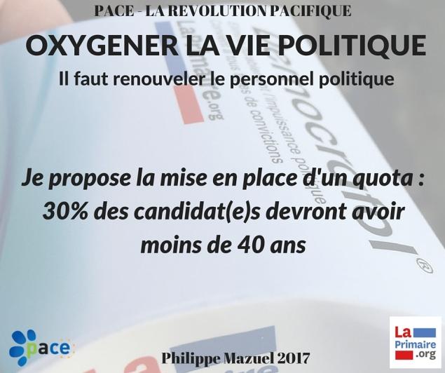 oxygéner la vie politique - quota