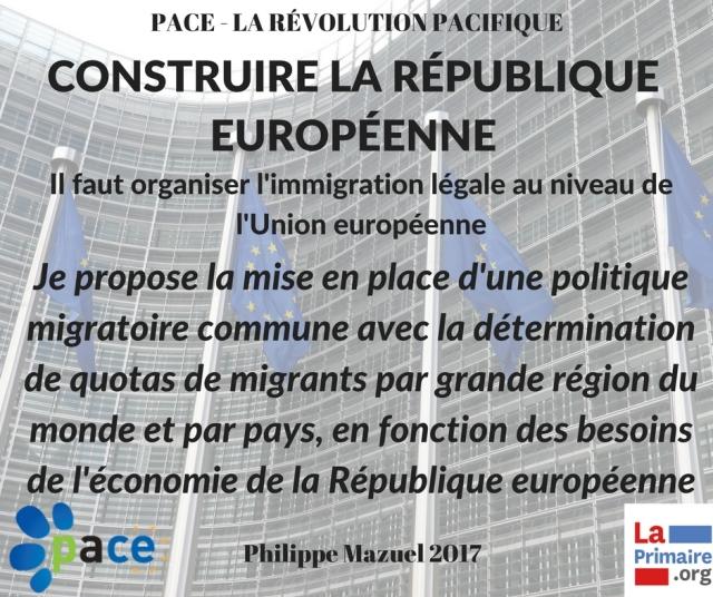 Construire la République Europénne - Organiser l'immigration légale.jpg